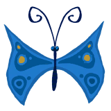 A blue butterfly, as seen in Rayman Origins