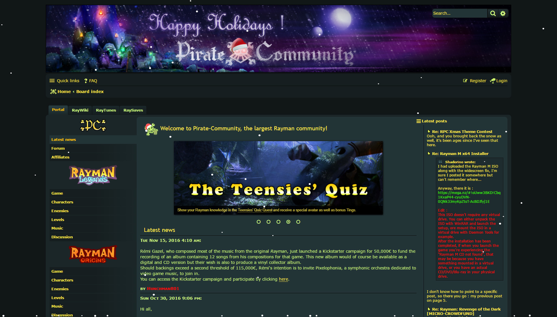 Christmas contests, games, scripts: a selection of sites