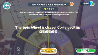 Ray-Gnarr's Icy Expedition Spin Wheel Congratulatory Message.png
